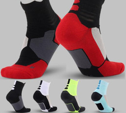 Wholesale Mens Athletic Compression - USA Professional Elite Basketball Socks Long Knee Athletic Sport Socks Mens brands new thick towel bottom Compression Thermal Socks