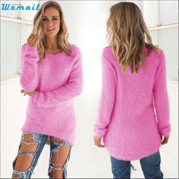 Wholesale Fairy Knitting - Wholesale- EV 28 Fairy Store Hot Selling Drop Shipping Womens Casual Solid Long Sleeve Jumper Sweaters Blouse