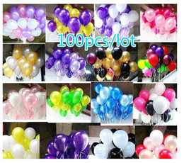 Wholesale Blue Latex Balloons - 100pcs 10inch Latex Ballon Party and Wedding Decoration Ballon with Different Colors Children Heathy Toy Ballons
