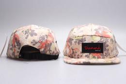 Canada Hot Diamond 5 Chapeaux de panneau blanc, Snapback des hommes de fleur classique, casquettes réglables de femmes, chapeaux plats ajustés de broderie supplier fitted flat Offre