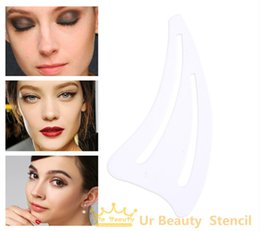 Wholesale Face Makeup Stencils - Wholesale- 1pack Multifunction Face Makeup Stencil Eyerow Template Card cat eye Card Auxiliary Tools