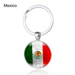 flags chile Coupons - World Cup Flag Keychains England Mexico Columbia Chile  Glass Cabochon Car Key 4df9b0b70