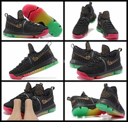 Wholesale Kd Shoes High Cut - 2017 New KD 9S Men Basketball shoes Rainbow Colorful high quality Kevin Durant KD 9 sneakers Trainers Basket ball Mens Sports shoes 7-12