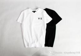 Wholesale Korean T Shirt Brands - Tide brand classic 3Y3 short-sleeved T-shirt summer hedge cotton round neck bottom Korean men and women wild collar shirt T shirt Kanye wes