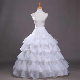 Wholesale Wedding Dressing Wholes Sale - Whole Sale White 5 Hoop Ruffles Petticoat Crinoline Slip For Wedding Dress Bridal Gown Free Shipping