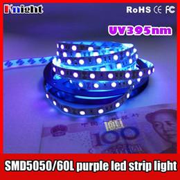 Tira de luz led púrpura 12v online-Venta al por mayor 12v led 5050 strip pink / purple, 30cm smd5050 esteriliza uv 395nm led strip light SMD3528 5m 300leds cinta luz impermeable 100m mucho