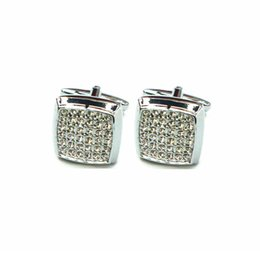 Wholesale Crystals For Decorating - fashion Cufflinks For Mens Shirt French Cufflink Wedding Party Banquet Grooms Gentelmen Cuff Links crystal decorate CP