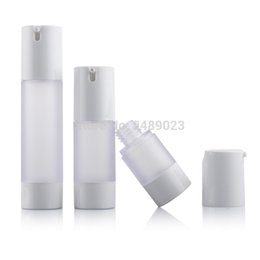 Wholesale Glass Airless Pump Bottle - Makup Tools 15ml 30ml 50ml Airless Bottle Frosted Vacuum Pump Lotion Refillable Bottles Used for Cosmetic Container 100pcs lot