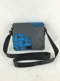 Wholesale Messenger Bag Brand Men - 2017L NEW Luxury brand MEN COBALT COATED CANVAS DISTRICT PM MESSENGER BAG DISTRICT men shoulder messenger rope messenger bag N41714
