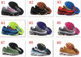 Wholesale Fish Discount - Drop Shipping Wholesale Running Shoes womens Air Cushion 95 Sneakers Boots 20 anniversary Authentic 2017 Walking Discount Sports Shoes 36-40