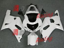inyección de carenado zx14 Rebajas Blanco Suzuki GSXR 600 750 2001-2003 Carenados Set Carrocería Plástico