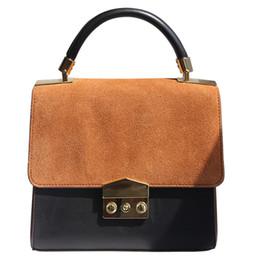 Wholesale Scrub Chain - Scrub Genuine Leather Women Bag Luxury Brand Handbag Women Fashion Shoulder Bags Messenger Bags Women's Real Leather Bags Bolsas