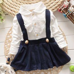 новое Прибытие 2016 детские Грили платье с длинным рукавом брекеты хлопок милый мини выше колена Принцесса повседневная девушка платье от