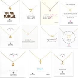 Wholesale Kind Girls - 11 Kinds With White Card Elephants Cross Unicorn Love Pendants Dogeared Necklace Short Clavicle chain Women Girl Fashion Wedding Jewelry