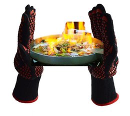 Wholesale Cleaning Mitt - HOT Oven Mitts Gloves BBQ Grilling Cooking Gloves - 932F Extreme Heat Resistant Gloves Long For Extra Forearm Protection