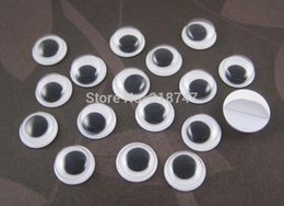 Wholesale Crafts Dolls Supplies - pparel Sewing Fabric DIY Craft Supplies Free shipping 12mm 4000pcs Lot white and Black plastic eyes doll eyes (with self-adhesive) DIY Do...