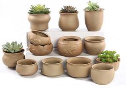 Wholesale Pottery Plants - Succulent plants flower pots plants pots rough pottery green plants ceramic simple personality creative small pots