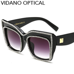 2019 cristalli di sole Vidano Optical Limited Edition Luxury Crystal Diamond Occhiali da sole per le donne Regalo di San Valentino Ultimo Designer Moda Cat Eye Occhiali da sole UV400 cristalli di sole economici