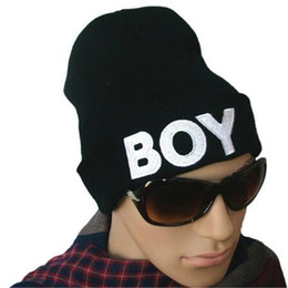 Wholesale Boys Street Dance - Winter Beanie Knit Hats for Men BOY Hip Hop Dance Beanie Hats for Women Men Ball Beanie Caps Fashion Hats DHL Free