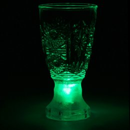 Wholesale Led Barware Wholesale - Wholesale- 2017 New Flashing LED Light Up Wedding Party Clubs Barware Wine Drink Cups hot