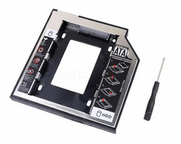 Rede De Plástico De Alumínio 2.5 2 9.5mm Ssd Hd SATA Unidade de Disco Rígido HDD Caddy Adaptador Bay Drive Para Cd Dvd Rom Óptica Bay de