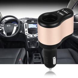 Wholesale 12v Lighter Sockets - High Quality 12V 1A & 2.1A Universal 2 Ports Dual USB One Way Car Cigarette Lighter Power Socket USB Car Cigarette Lighter Socket