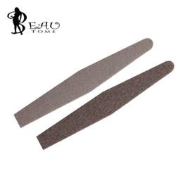Wholesale Professional Coffee - Wholesale- 1 x Professional Coffee Diamond Shape Double Sided Nail Art Sanding File Buffer Grit 100 180 Nail Tool HS157