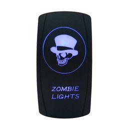 Wholesale Boat Led Light 12 - Car Motor Boat Zombie Lights Toggle Switch Laser Blue LED Rocker Switch 5 PINS- 20 Amp 12 Volt Rocker Switch