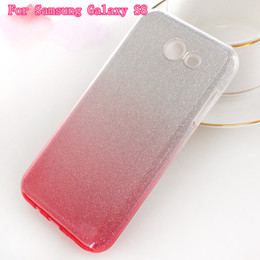 Wholesale Glitter Stickers For Phones - For Samsung galaxy S8 S8PLUS j5 prime j7 prime zte zmax Z981 clear rubber soft glitter stickers TPU + PC color phone protection shell