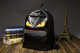 Wholesale Male School Bags - Men Bag PU Leather Male Patchwork Color School Backpack Artificial Fashion Men  Women Shoulder Bag With Two Solid Pocket BA253