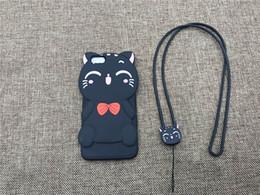 Wholesale Cartoon Case Wholesale - 3D Cartoon Animals Joy Doll Cute Bow Cat Soft Silicone Back Cover For Iphone 6 6s 6plus 6s Plus 7 7plus Phone Cases