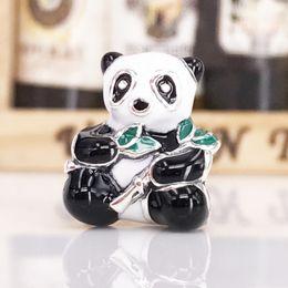 Wholesale Panda Bear Charms - 2017 Autumn Arrival Charms Authentic 925 Sterling Silver Panda Bear Charm For DIY Pandora Style Jewelry Bracelet 796256ENMX