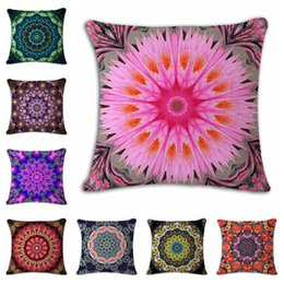Wholesale Vintage Styling Chairs - Ethnic Bohemian Style Decorative Pillow Case Cotton Linen Vintage Geometric Chair Seat Square Pillow Cushion Cover Home Textile