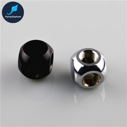 """Wholesale Water Quick Connector - Wholesale- G1 4"""" matel ball cube shape 3 ways black silver coppor connector connect to pagoda quick twist fitting for PC water cooling"""