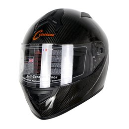 Wholesale race face carbon - Wholesale- High Quality ECE Approval Cyclegear Carbon Fiber Full Face Motorcycle Helmet Racing Casco CG931