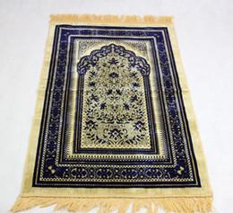 Wholesale Muslim Prayer Rugs - wholesale Islamic Muslim worship Prayer Rug Salat Musallah Prayer blanket Tapis Carpet Tapete Banheiro travel prayer mat free shipping