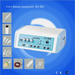 Wholesale High Frequency Galvanic Machine - RU-402 facial machine high frequency ozone machine Galvanic probes High frequency handles Spot removal handle Vacuum glasses 5 in 1 equipme