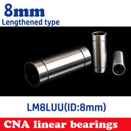 Wholesale Linear Ball Cnc - Wholesale- 4pcs lot LM8LUU 8mm Longer Linear Ball Bearing Bushing Linear Bearings CNC parts 3d printer parts LM8L