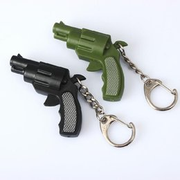 Wholesale Wholesale Small Toy Guns - The new small pistol luminous voice led keychain pendant creative jewelry simulation plastic toys