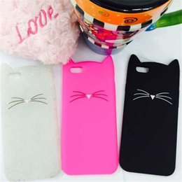 Wholesale Black Cat Iphone Case - For iPhone 7 7Plus 3D Cute Cat Cute Silicone Soft Cover for Apple iPhone 6 6sPlus 5 5s SE New