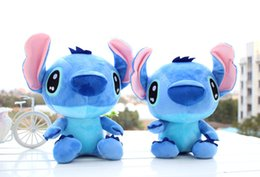 Wholesale Christmas Cloth For Children - One Piece Kawaii Anime Stitch Plush Toys 35cm Lilo and Stitch Plush Puzzle Baby Toys Stuffed Animal Doll Kids Toys For Children