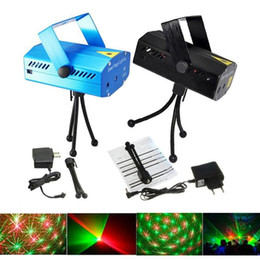 Wholesale dj tripods - Mini Red Green Moving Party Stage Laser Lights Projector lighting with tripod laser DJ party disco light Christmas light wedding lighting