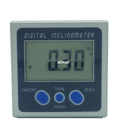 Wholesale Inclinometer Angle Finder - Freeshipping Digital Protractor Inclinometer Bevel Box Level Measuring Tool Electronic Angle Meter Angle Finder Angle Gauge Magnetic Base