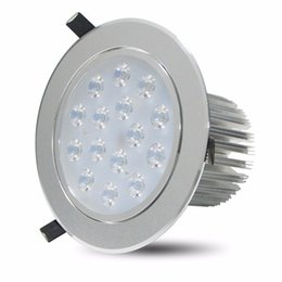 Wholesale Wall Mount Led Spot Light - LED Recessed Ceiling Light 9W 12W 15W 18W AC85-266V Cabinet Wall Spot Down Lamp Cold White Warm White For Home Lighting