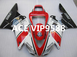 Wholesale 98 R1 Fairings White Black - 3 gifts Motorcycle Fairing kit for YAMAHA YZFR1 98 99 YZF R1 1998 1999 YZF1000 YZF 1000 Fairings set White Black Red v13