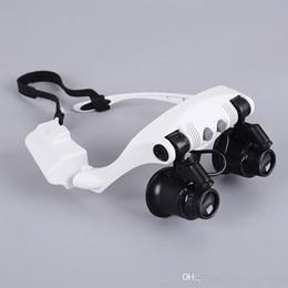 lupa de jóia Desconto 8 Lente 10X 15X 20X 25X Óculos Óculos de Olho LEVOU Lâmpada Lupa Lupa Jóias Manter Assista Ferramenta de Reparo