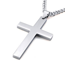Wholesale Jewelry Gold For Man Price - Cross Necklaces&Pendants For Men Stainless Steel Gold-Color Male Pendant Necklaces Prayer Jewelry High Quality Factory Price