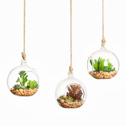 Wholesale Glass Vases For Weddings - Hanging Glass Grobe Glass Terrarium Kit, Hanging Glass Vase For Wedding Home Decor, 16 piece per lot