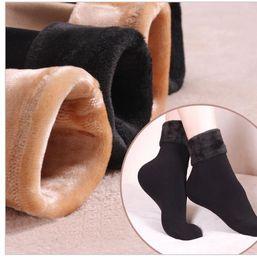 Wholesale Home Boots - Women Socks Winter warm Socks hosiery Thicken sock Wool Home Calcetines Snow boots Cotton socks Female Velvet Half-hos