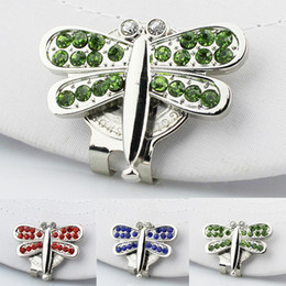Wholesale Free Ball Marker - Wholesale- Free Shipping New Dragonfly Alloy Professional Golf Cap Clip Golf Ball Aiming Marker
